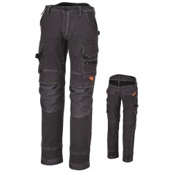 PANTALONE MULTITASCHE GRIGIO BETA STRETCH