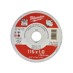 DISCO DA TAGLIO 115X1.0 X FERRO MILWAUKEE