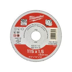 DISCO DA TAGLIO 115X1.5 X FERRO MILWAUKEE