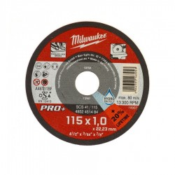 DISCO DA TAGLIO 115X1.0 X INOX PRO+ MILWAUKEE