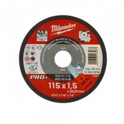 DISCO DA TAGLIO 115X1.5 X INOX PRO+ MILWAUKEE