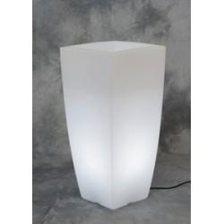VASO HOME LIGHT QUADRO CM.33X33X70 GHIAC/BIA