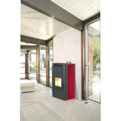 STUFA PELLET KING 20 IDRO KW20 BORDEAUX